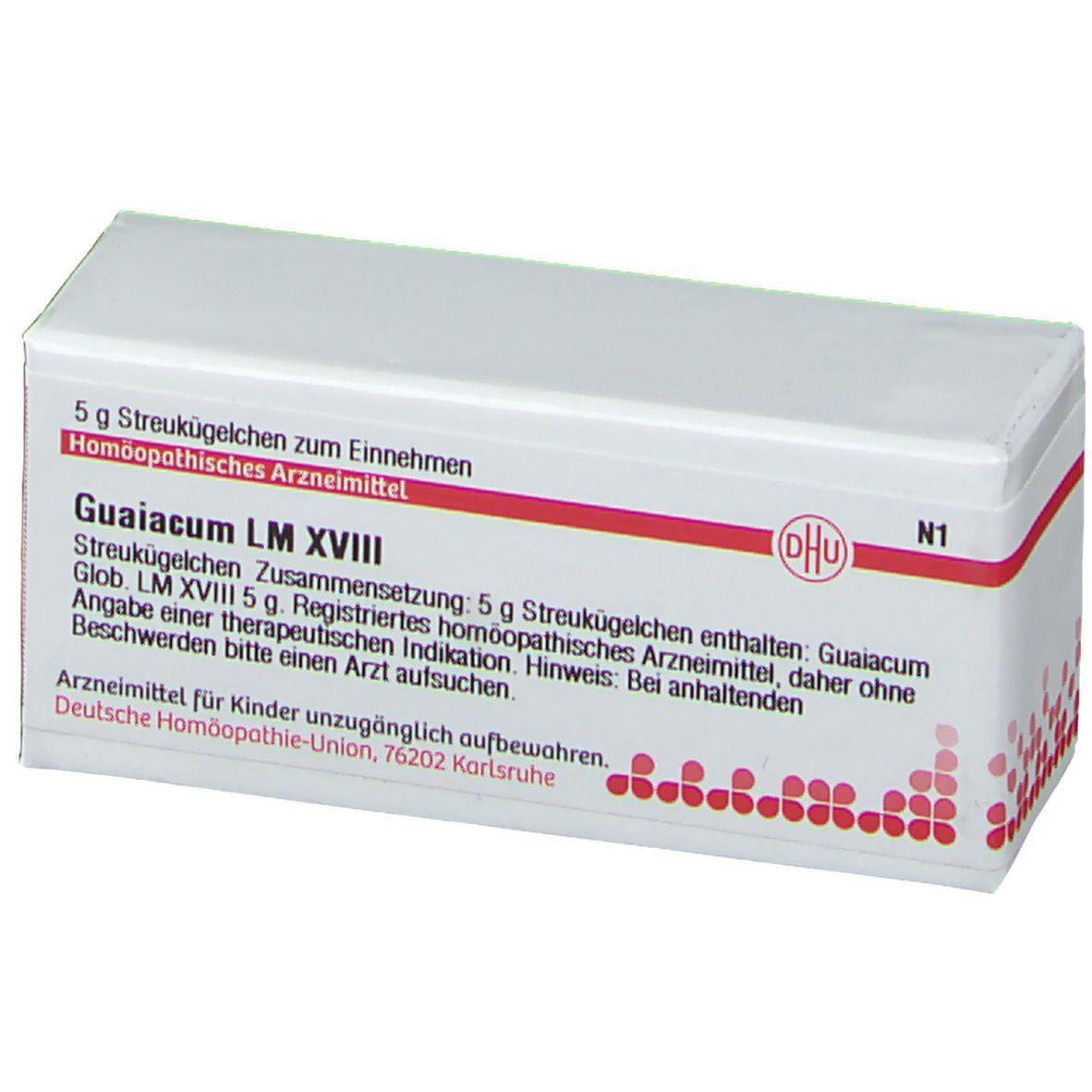 DHU Guaiacum LM XVIII