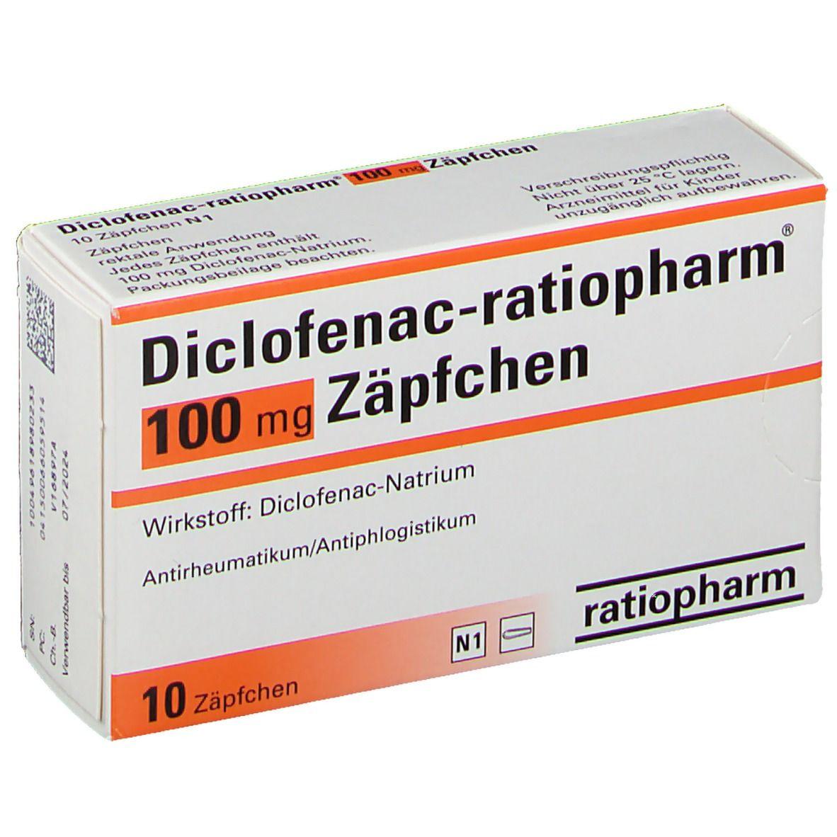 Diclofenac Ratiopharm 100 Mg Zapfchen 10 St Shop Apotheke Com