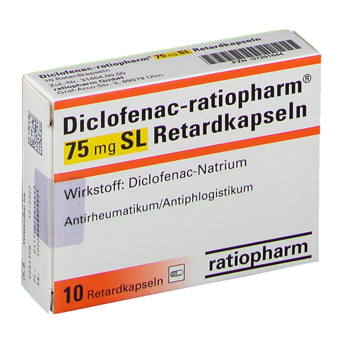 Diclofenac Ratiopharm 75 Mg Sl Retardkapseln 10 St Shop Apotheke Com