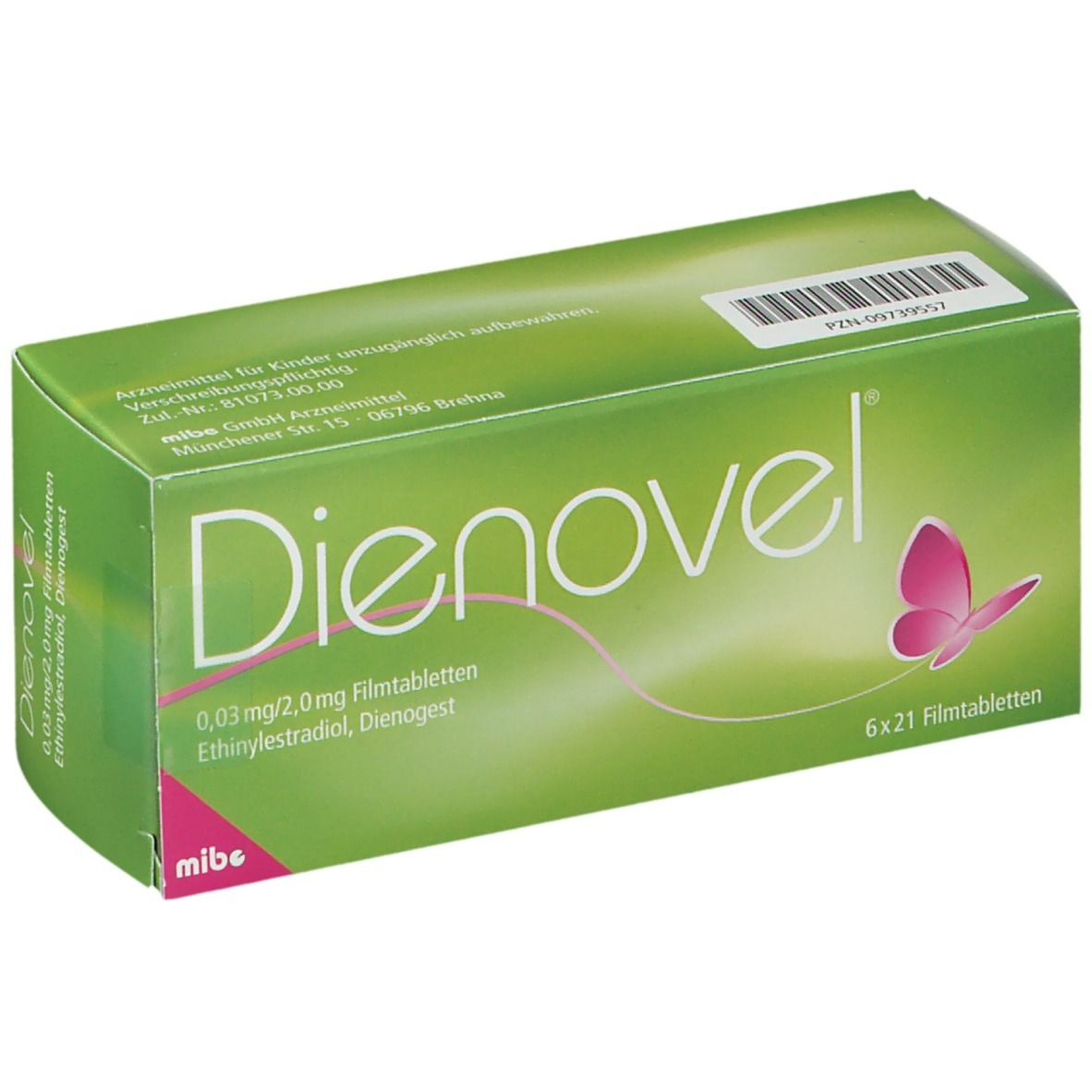 Antibabypille grüne verpackung