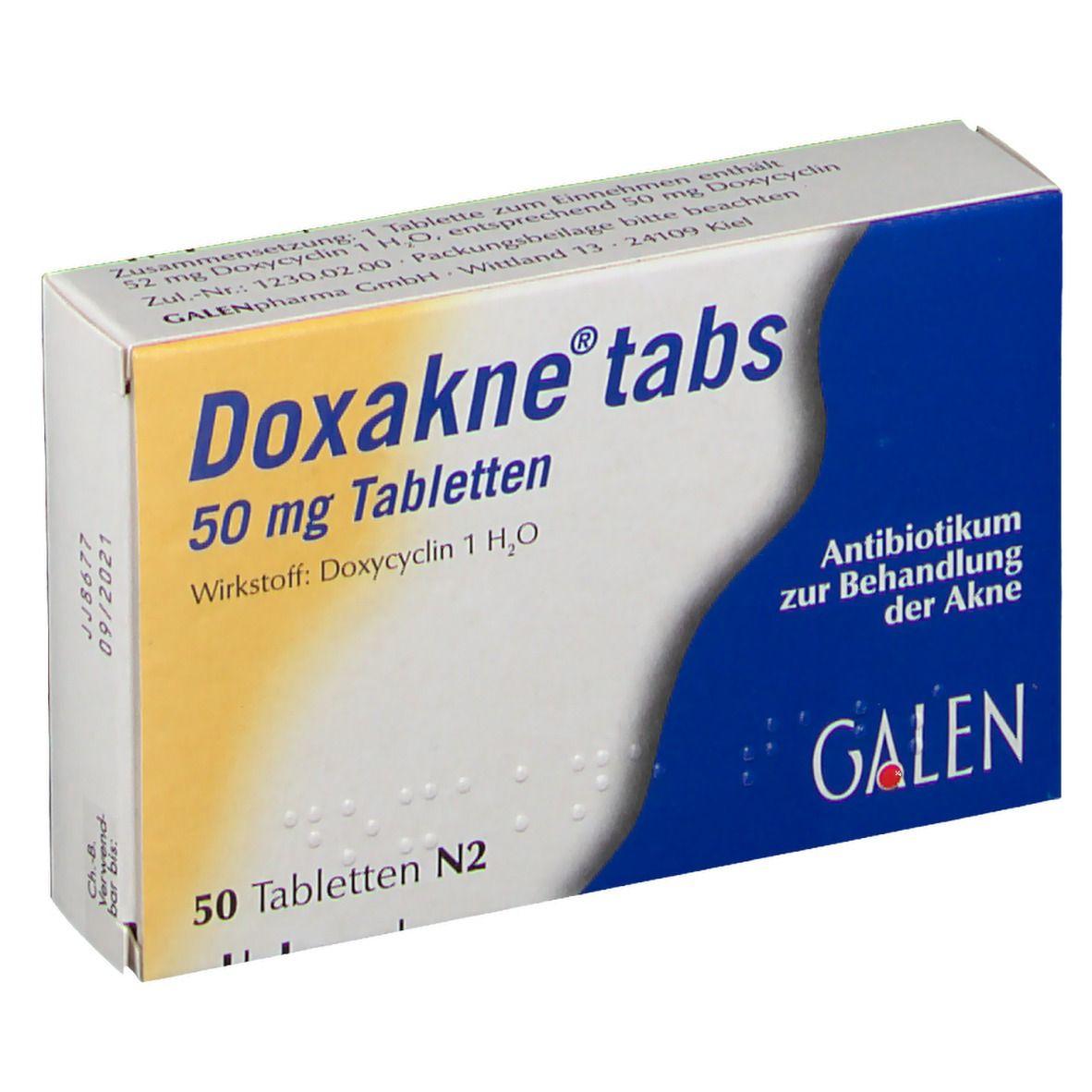 Doxakne Tabs Tabletten 50 St - shop-apotheke.com