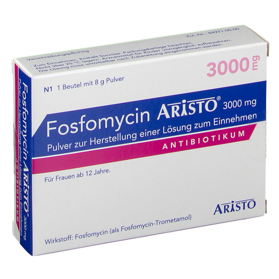 Fosfomycin aristo 3000 mg pulver