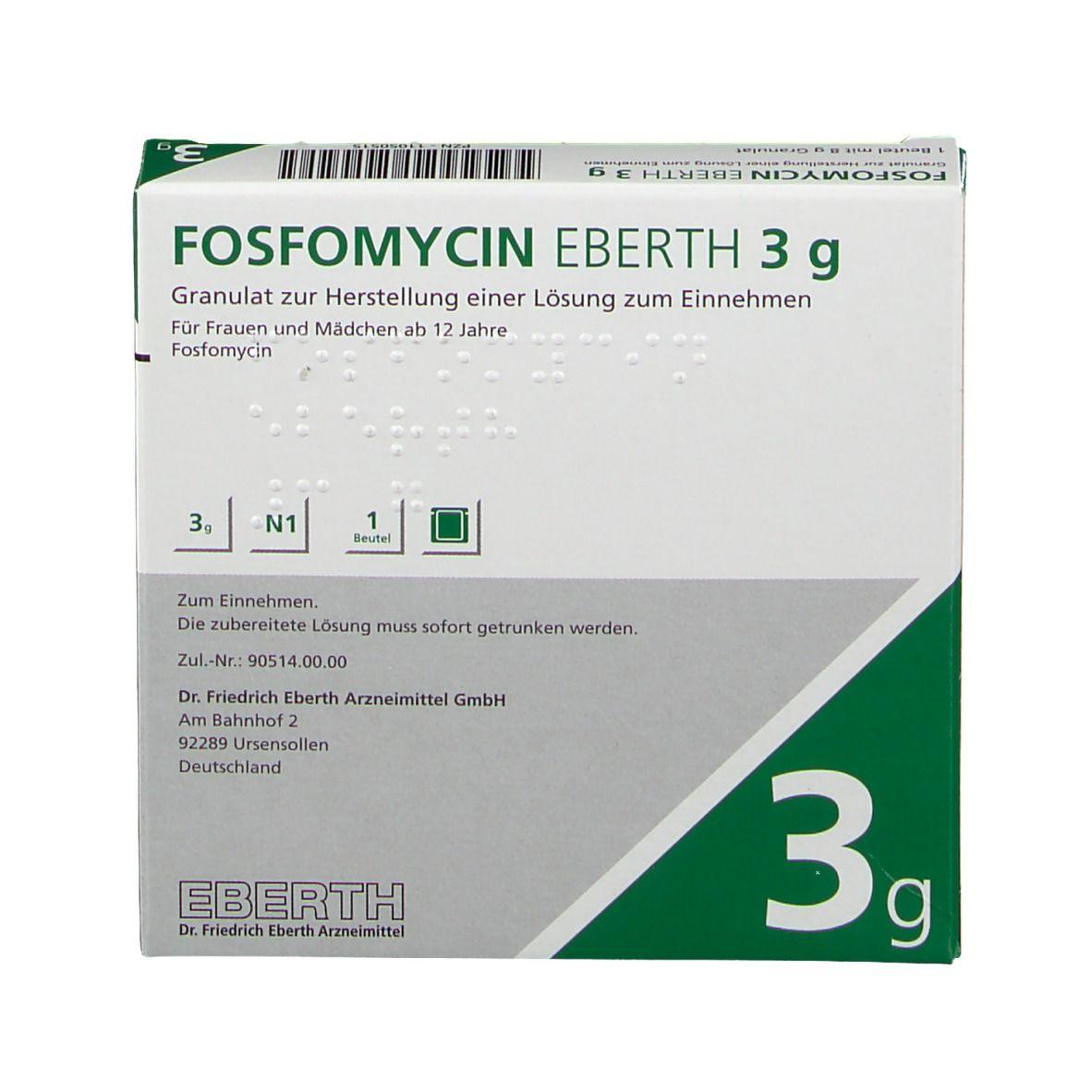 Wie es mg fosfomycin schnell aristo 3000 wirkt Fosfomycin malaprade