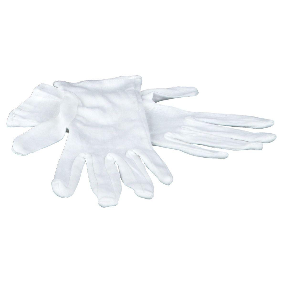 FRANK® Zwirnhandschuhe aus Baumwoll-Trikot weiß Gr. 8