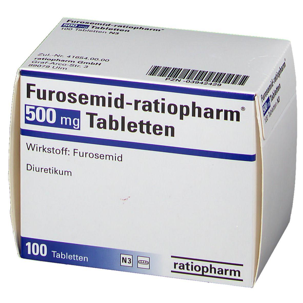 Furosemid ratiopharm 500 Tabl.