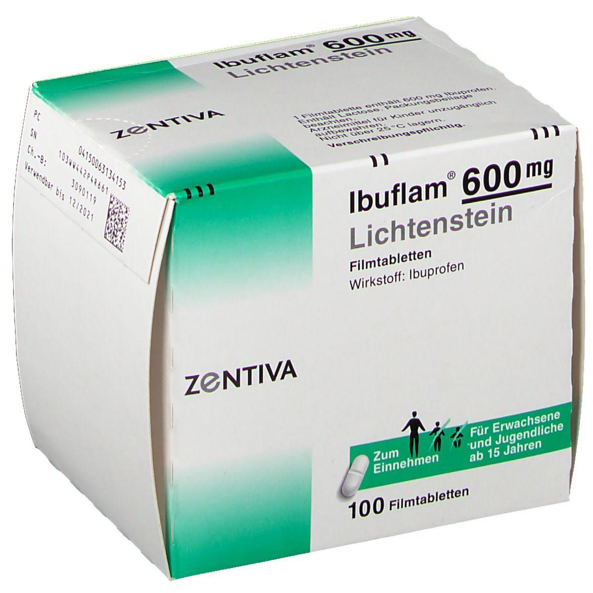 Ibuflam® 600 Lichtenstein Filmtabletten 100 St - shop