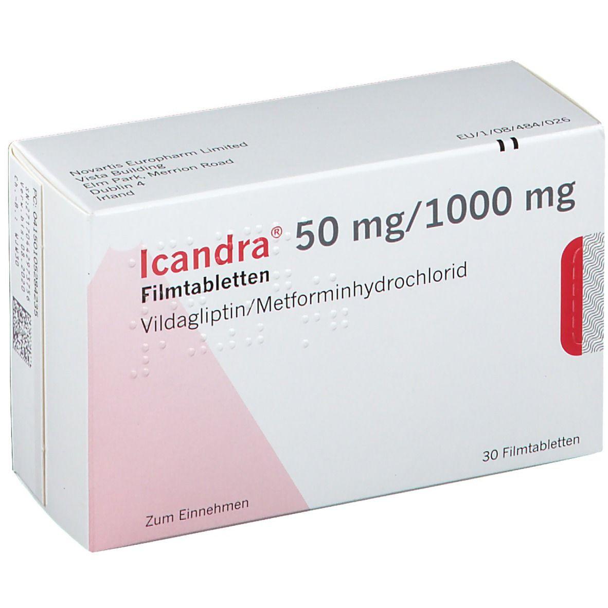 ICANDRA 50 mg/1000 mg Filmtabletten