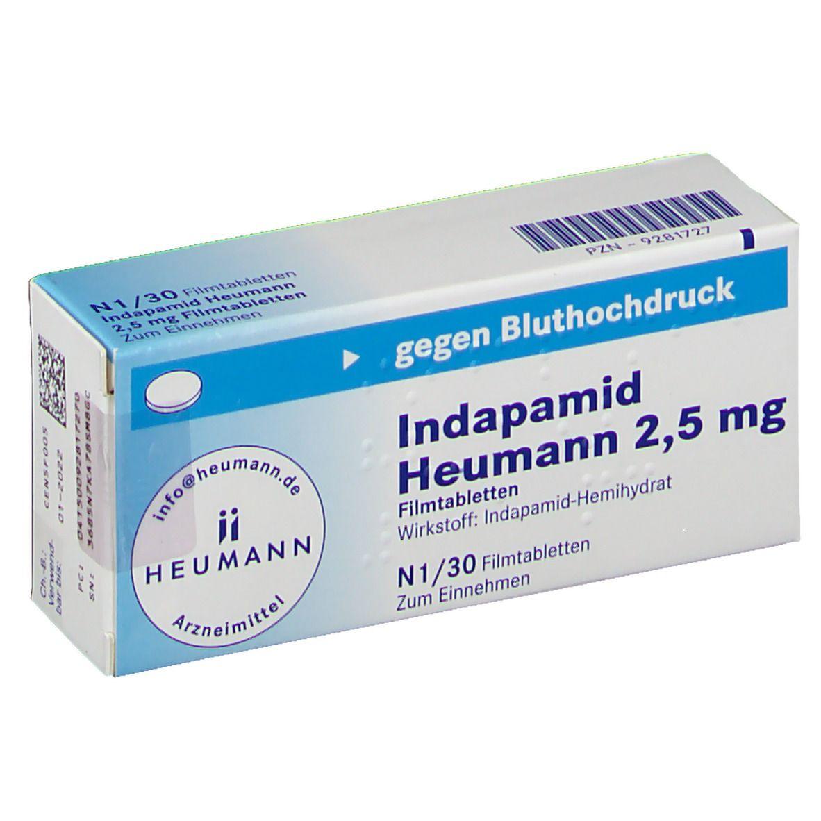 Indapamid Heumann 20,20 mg 20 St   shop apotheke.com