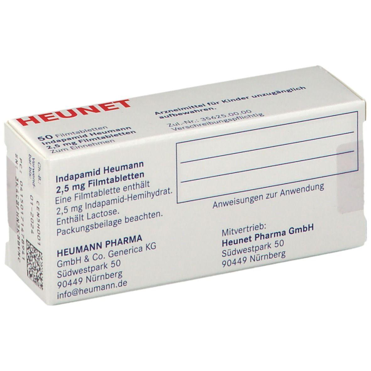 INDAPAMID Heumann 20,20 mg Filmtabletten Heunet 200 St   shop ...