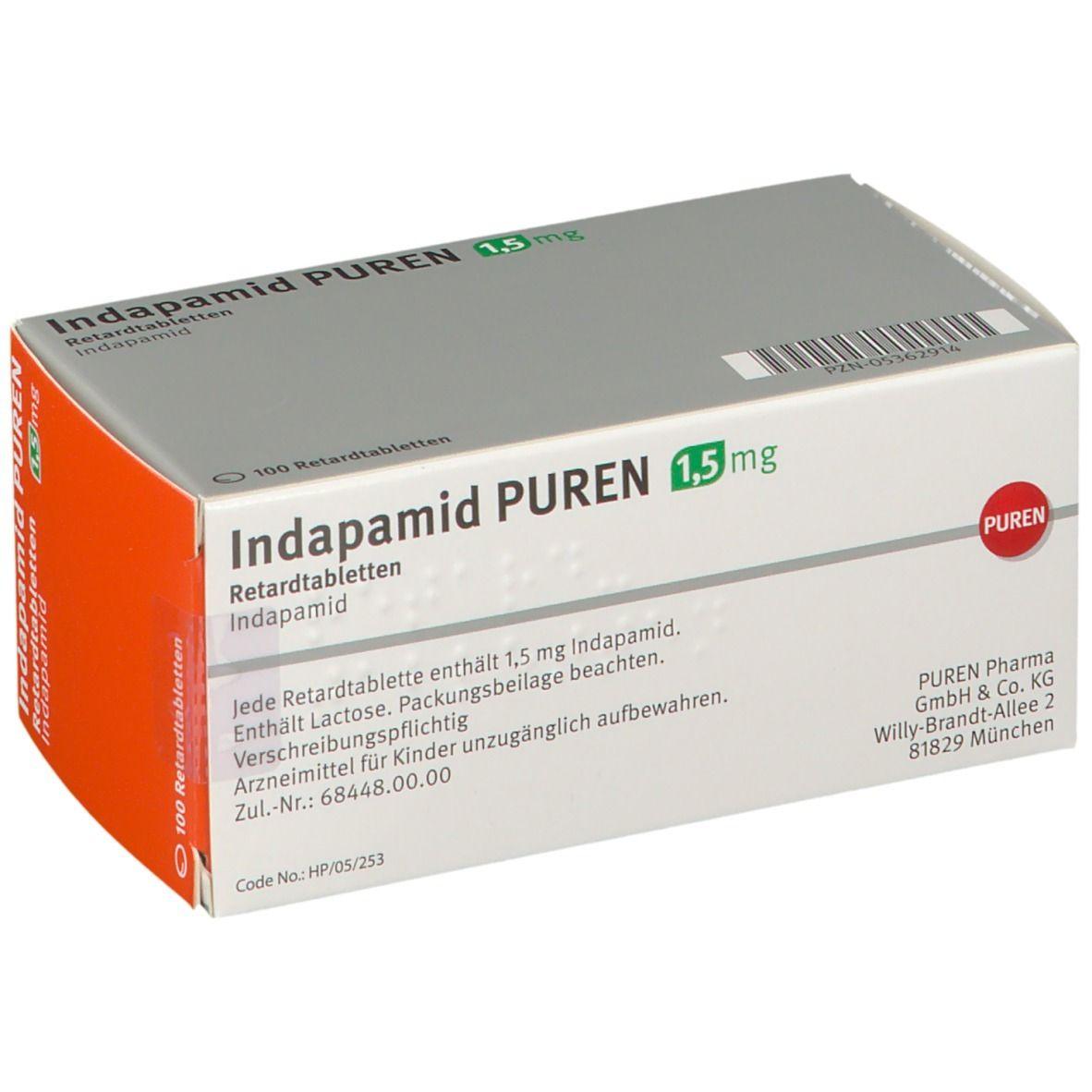 Indapamid PUREN 20,20 mg 2000 St   shop apotheke.com