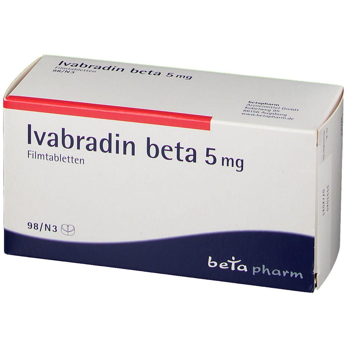 Ivabradin beta 20 mg 20 St   shop apotheke.com