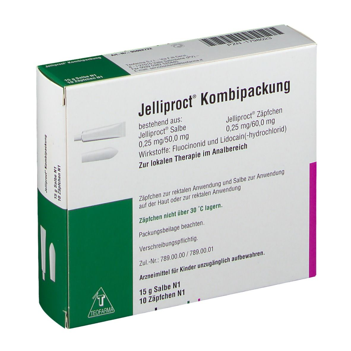 Jelliproct Kombipackung Salbe 15g+Zaepfchen