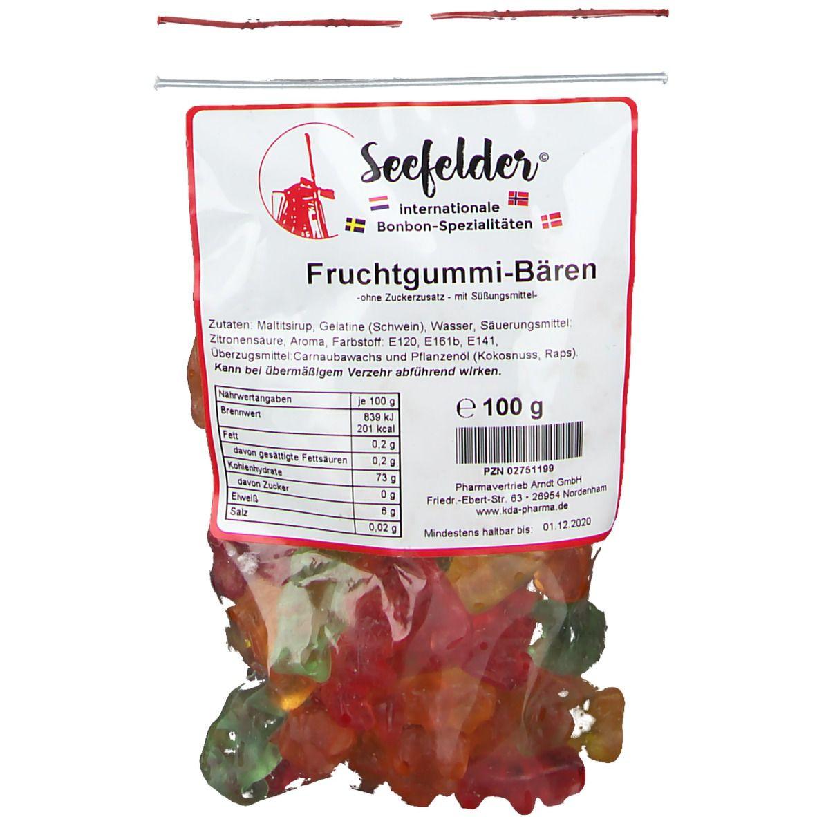KDA® Seefelder Fruchtgummibären ohne Zuckerzusatz
