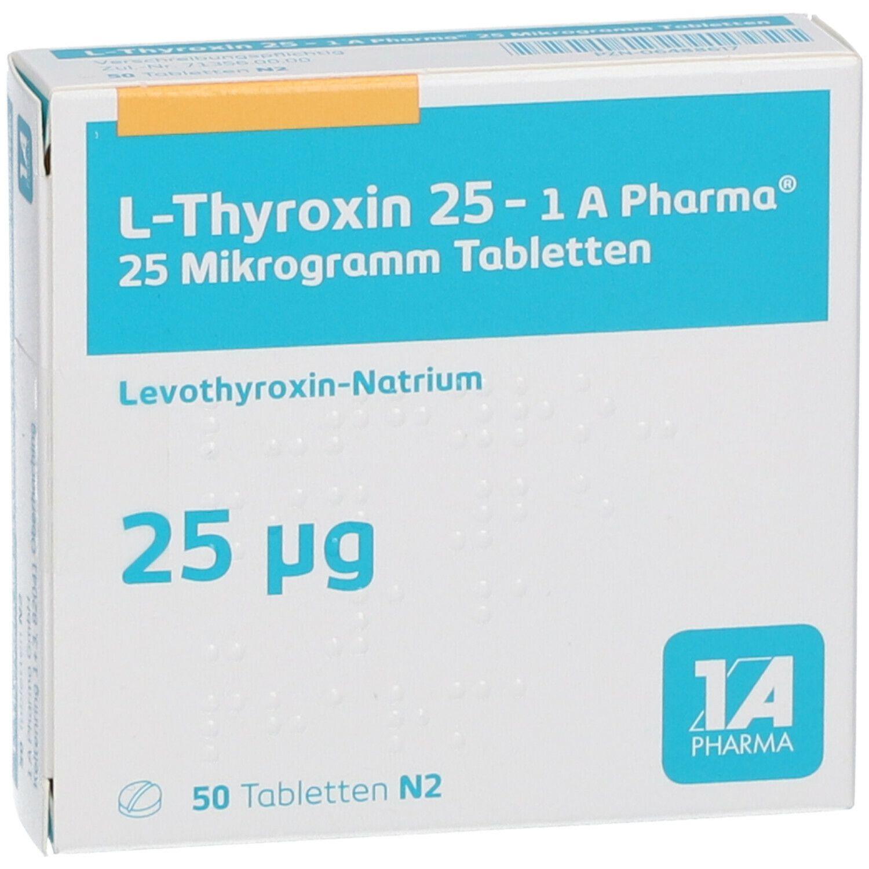 L Thyroxin 25 Abnehmen
