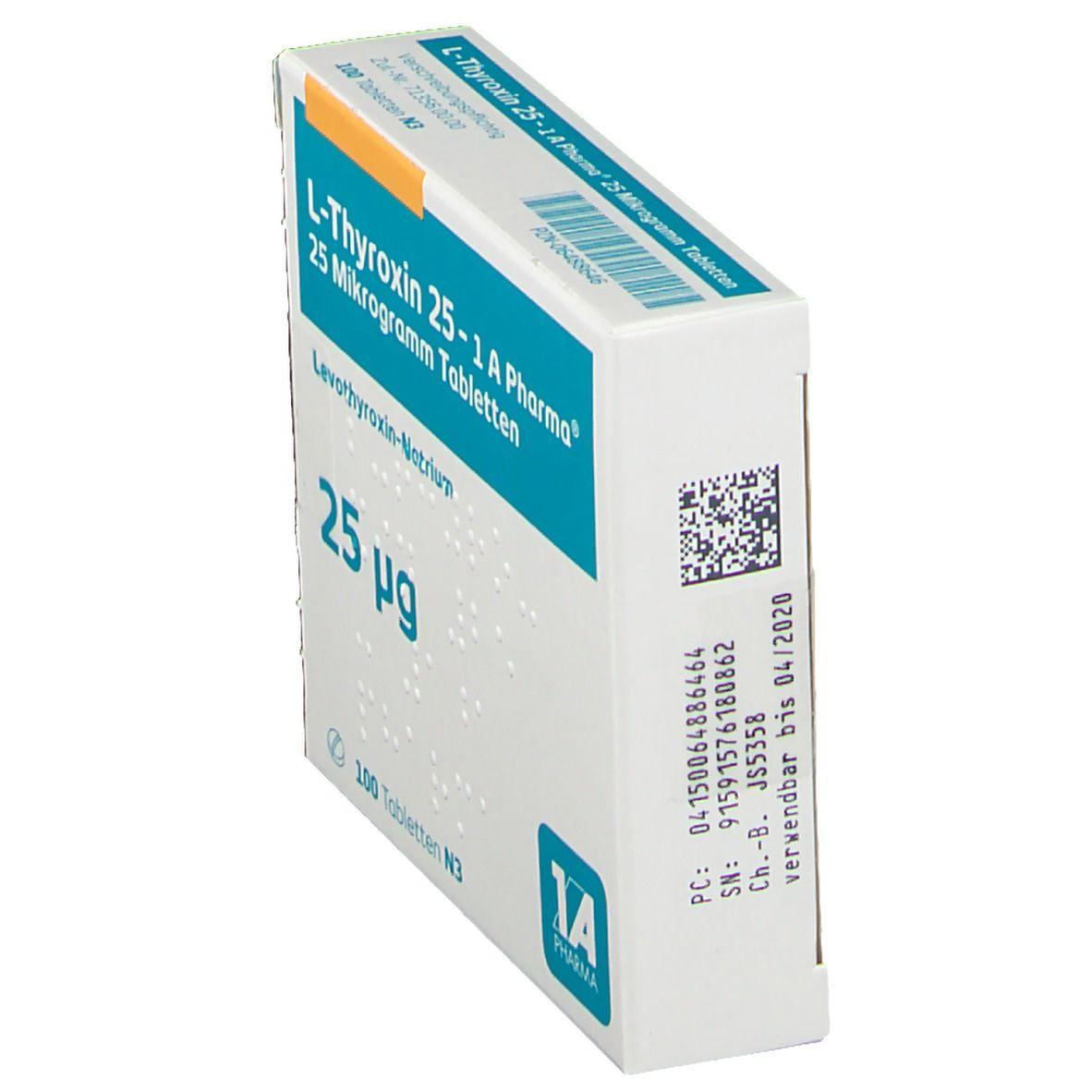 L Thyroxin 25 Erfahrungen