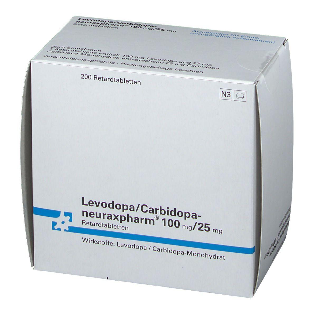 LEVODOP neuraxpharm 100/25mg retard Tabl.