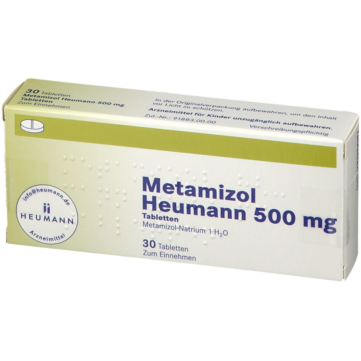 Metamizol Heumann 20 mg 20 St   shop apotheke.com