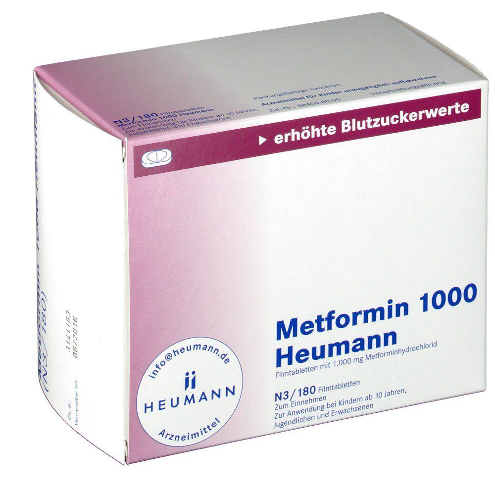Metformin 1000 mg zur Gewichtsreduktion