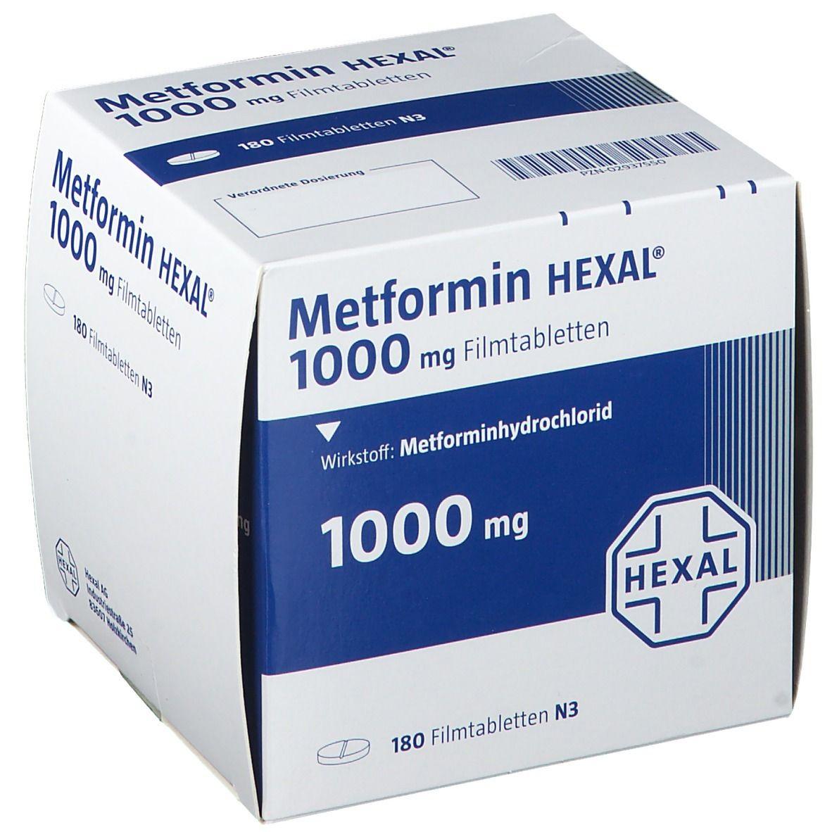 Metformin HEXAL® 1000 mg 180 St - shop-apotheke.com