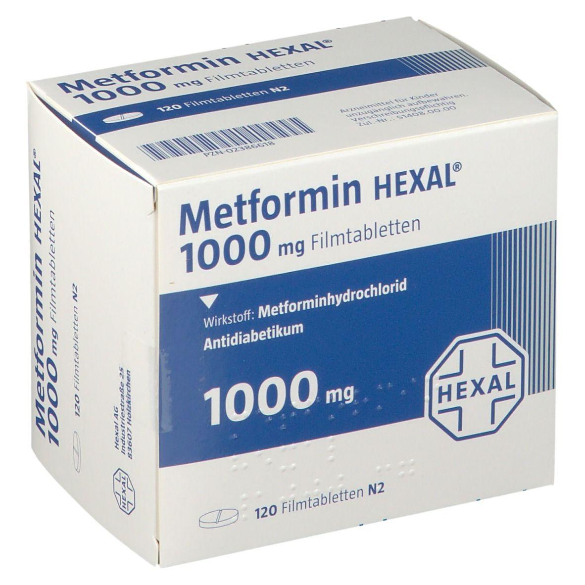 Metformin Hexal 1000 mg Filmtabletten 120 St - shop