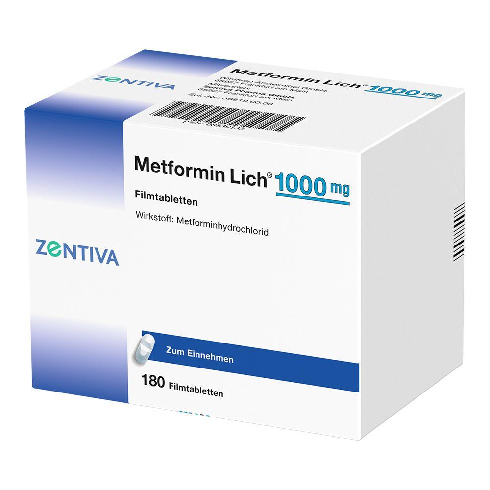 Metformin Lich® 1000 mg Filmtabletten 180 St - shop