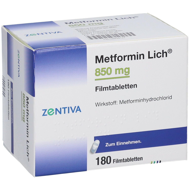 Metformin 850 mg zur Gewichtsreduktion Paracetamol Dosierung
