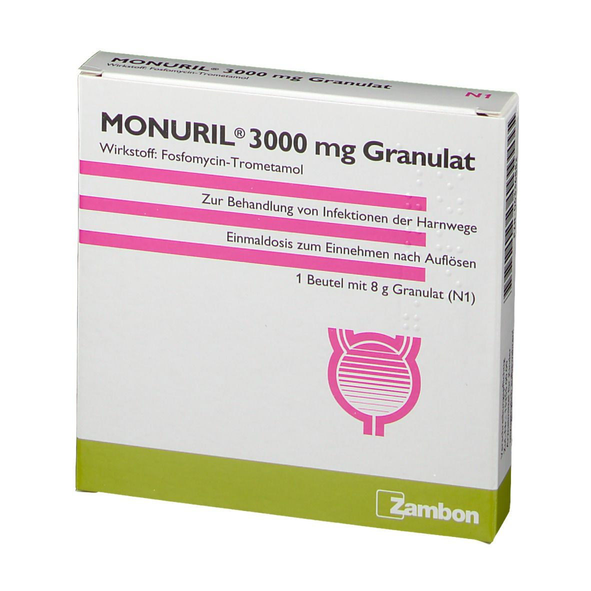 Beipackzettel monuril Fachinformation Monuril