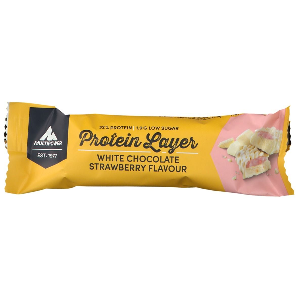 Multipower Protein Layer, White Chocolate Strawberry