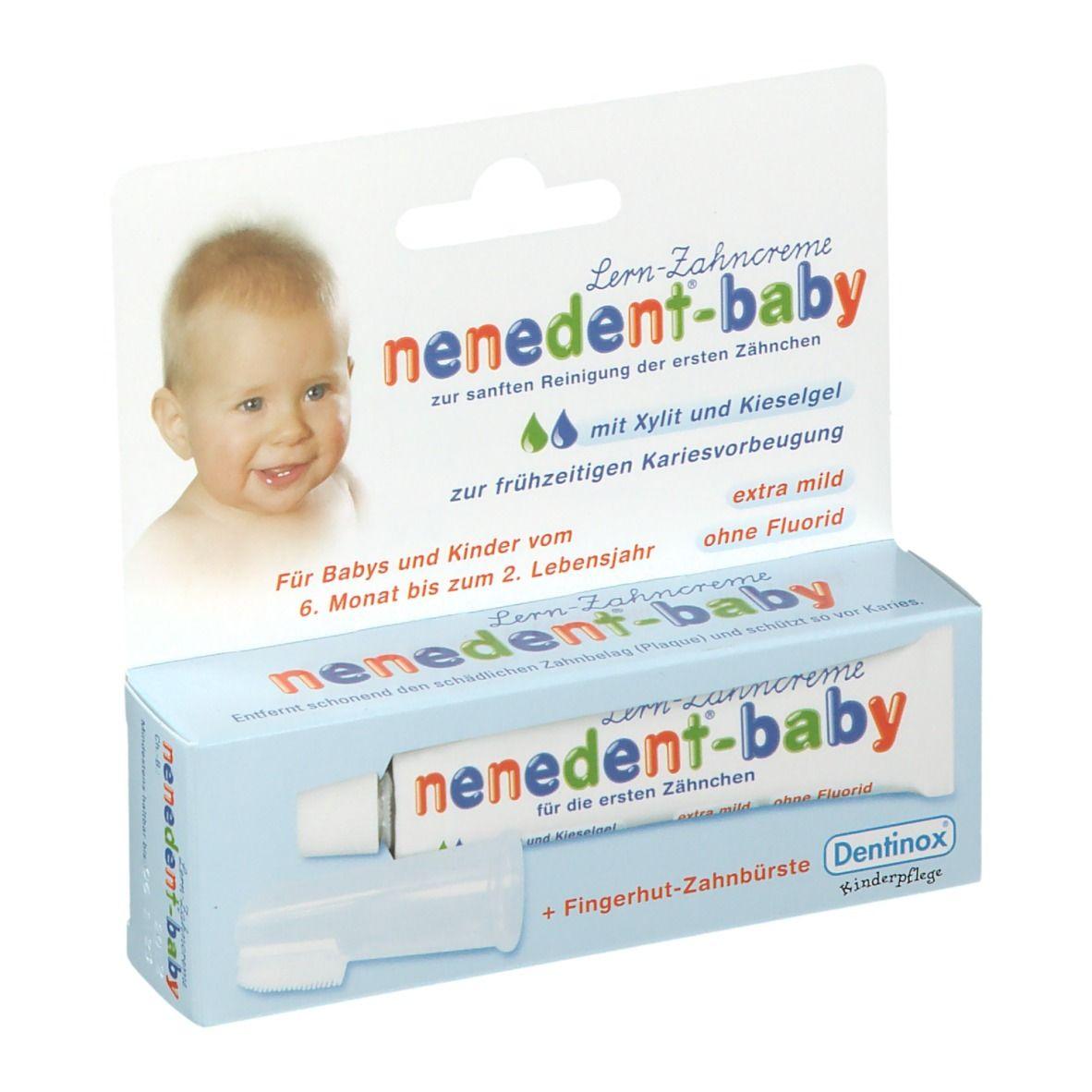 nenedent® baby Zahnpflege Lernset mit Fingerhut Zahnbürste