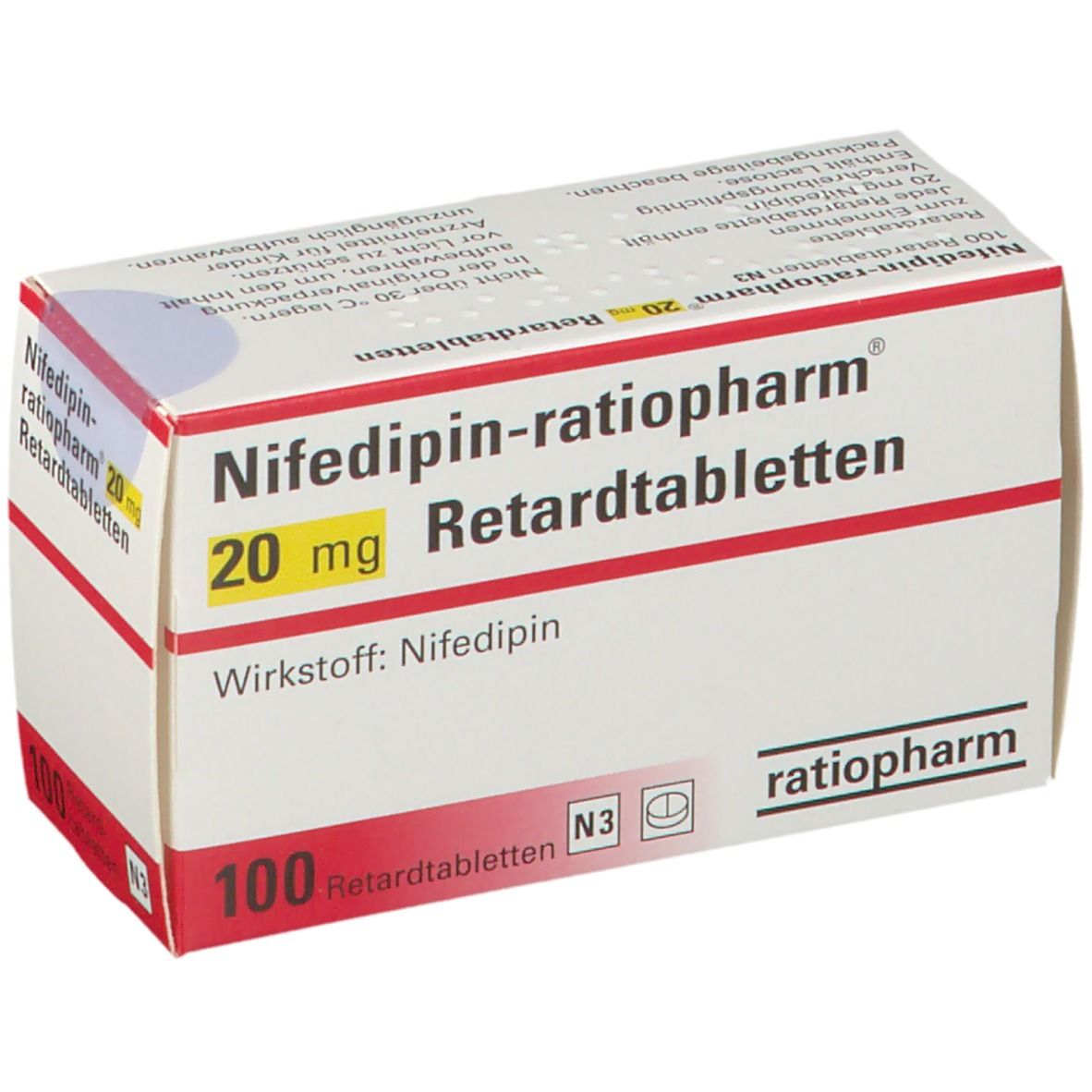NIFEDIPIN ratiopharm 20 mg
