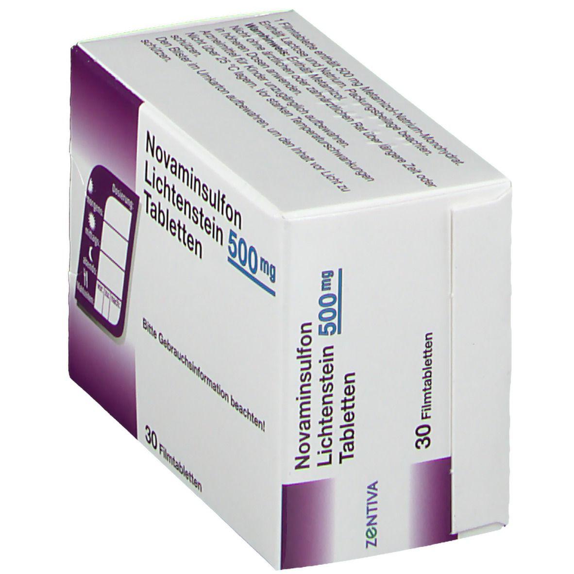 Novaminsulfon 500 mg Lichtenstein Filmtabletten 30 St