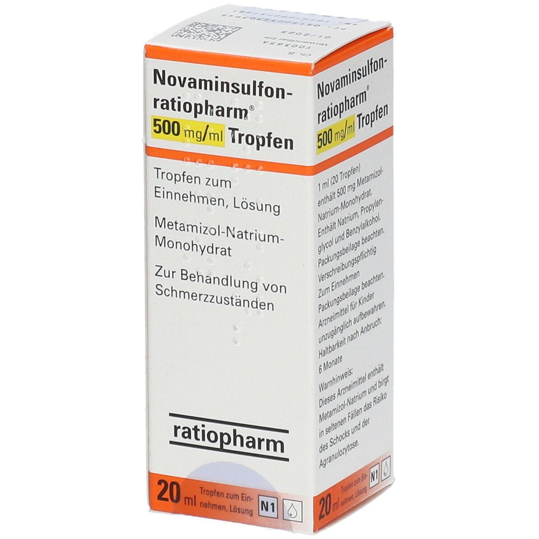 metamizol tropfen nebenwirkungen