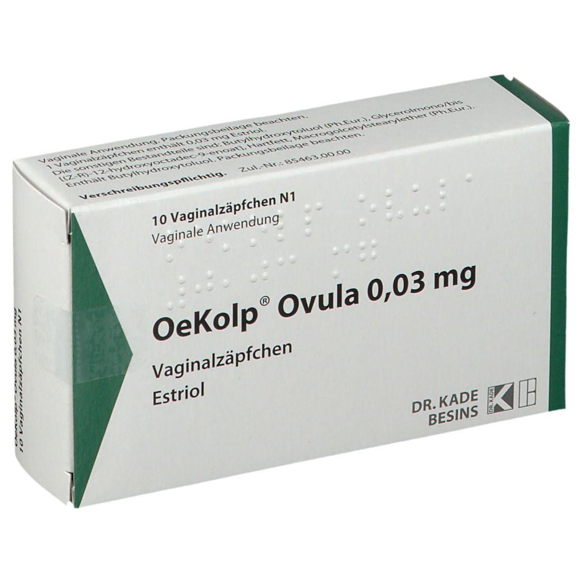 Ovula zäpfchen erfahrungen oekolp Unangenehmer Harndrang