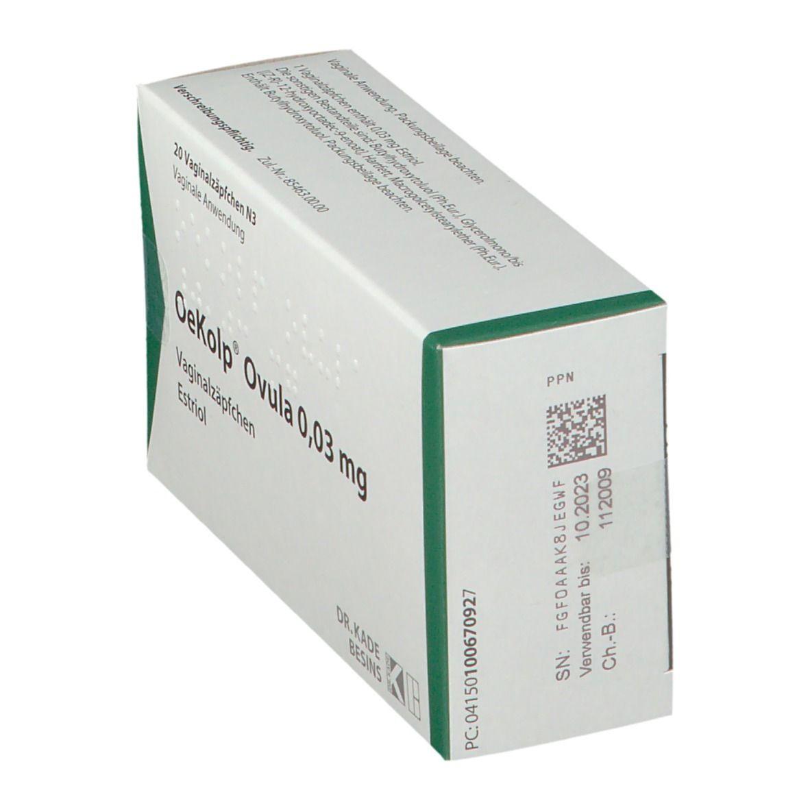 Nebenwirkungen oekolp ovula Estriol