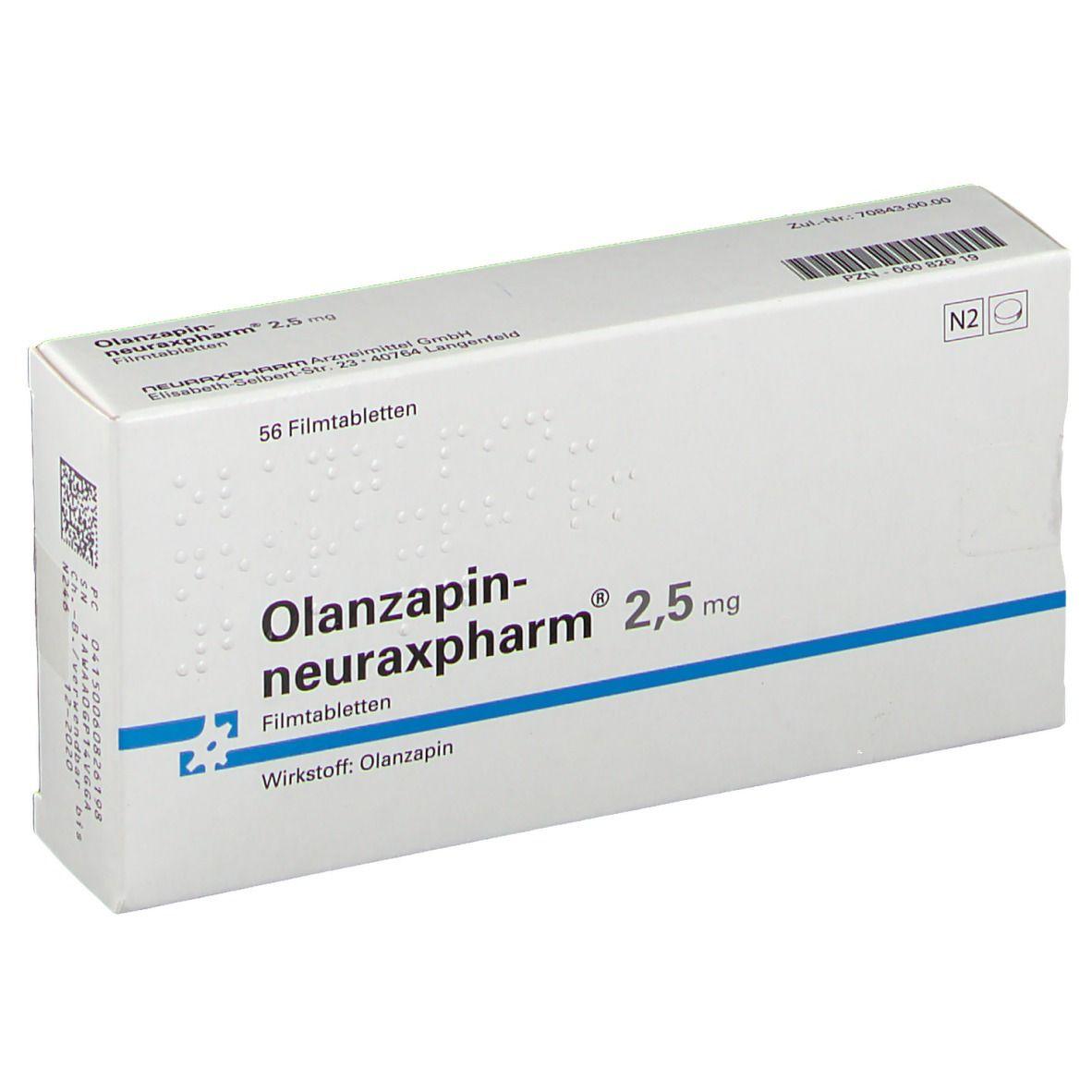 OLANZAPIN-NEURAX 2.5 MG