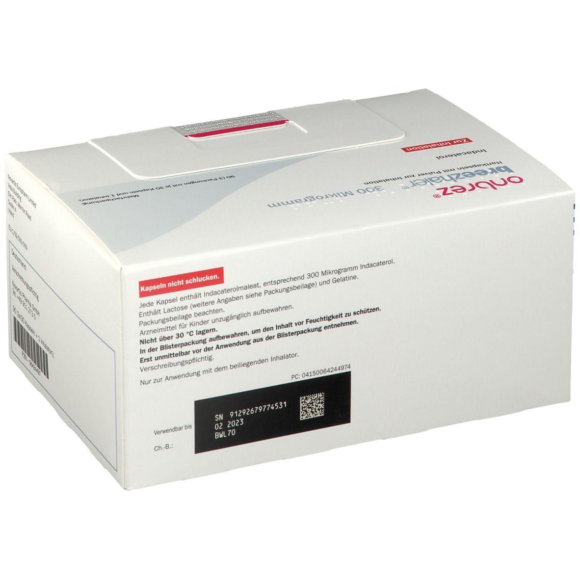 Onbrez Breezhaler 300 µg Inhalationskapseln