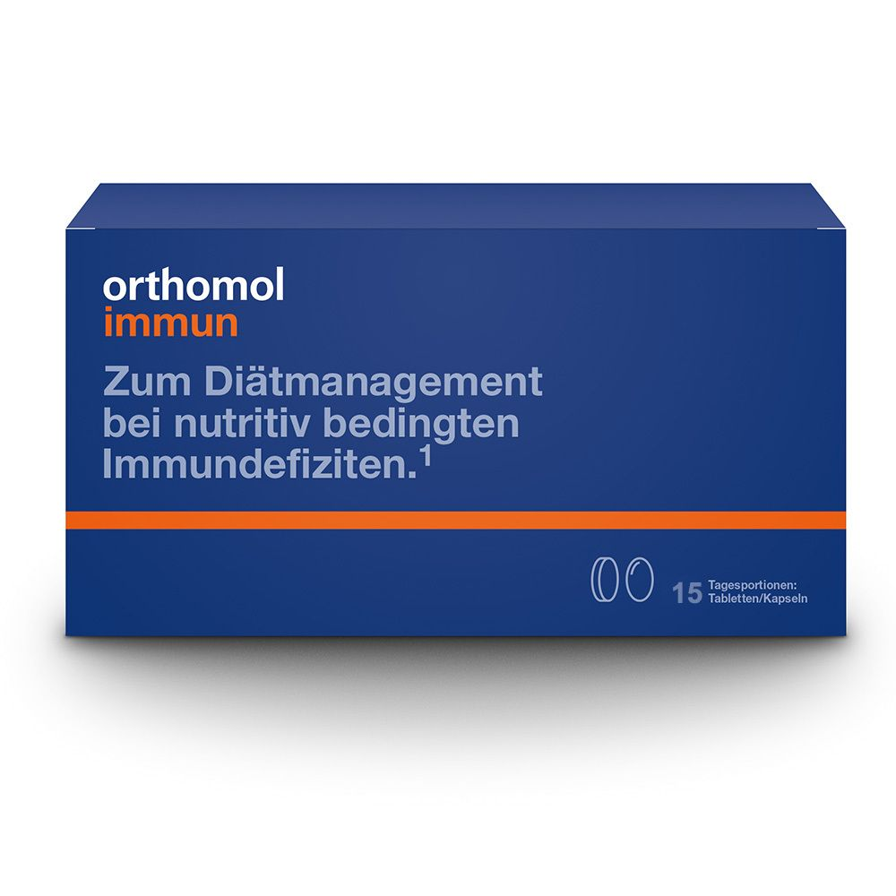 15 St orthomol immun Tabletten//Kapseln Portionen 1319927