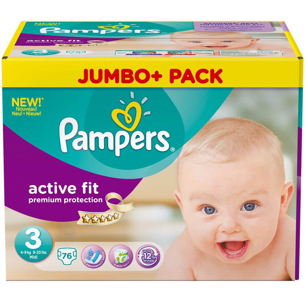 PAMPERS New Baby Gr.3 midi 4-9kg Sparpack 35 St