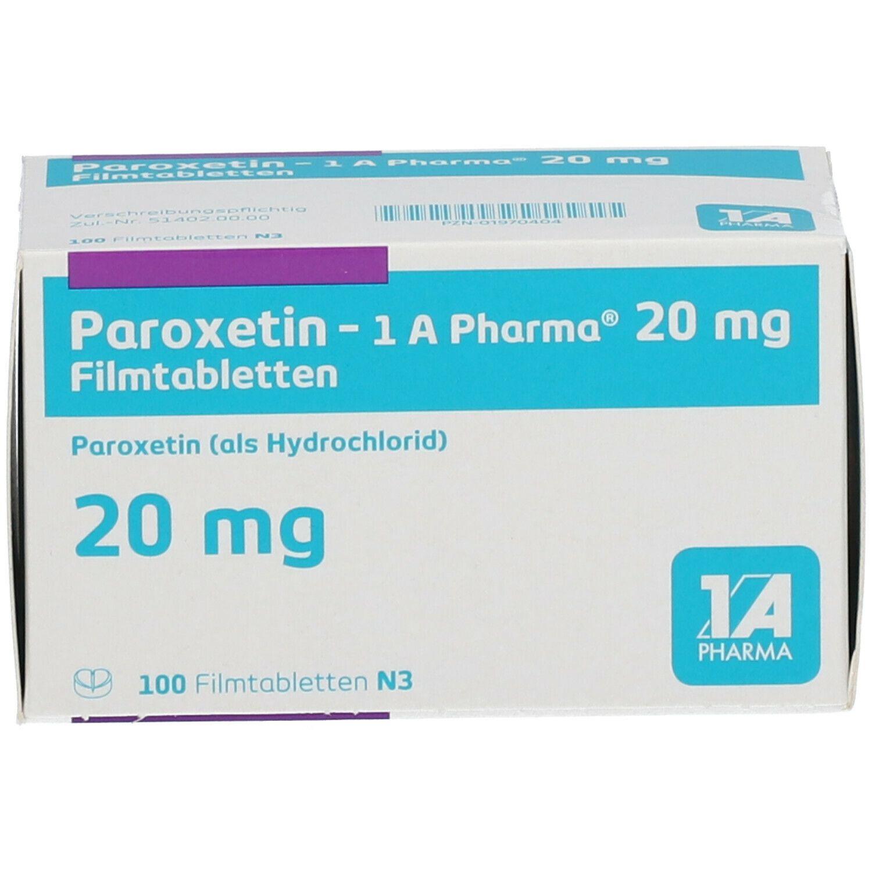 Paroxetin 1a Pharma 20 mg Filmtabletten