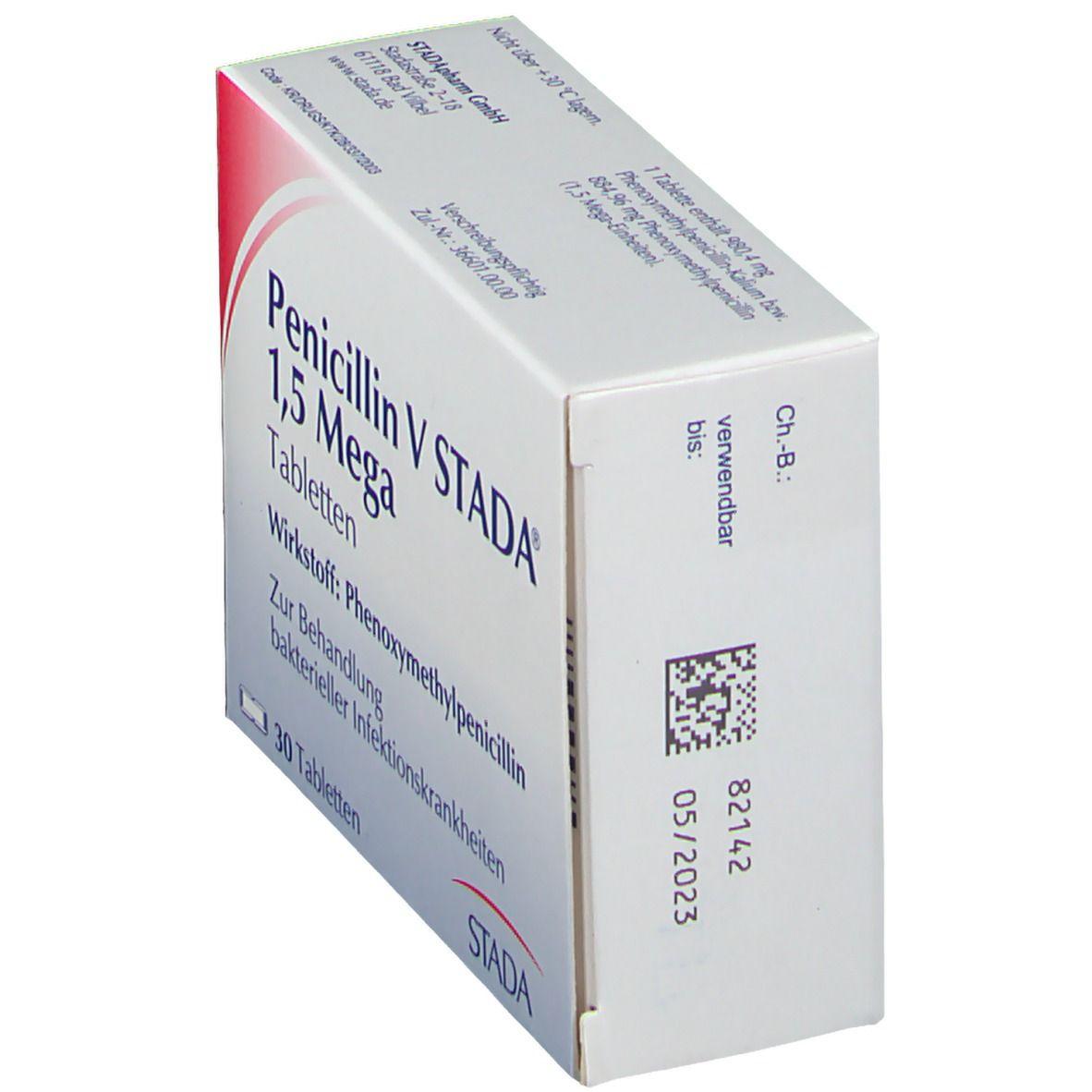 V 1 nebenwirkungen stada mega penicillin 5 PENICILLIN V