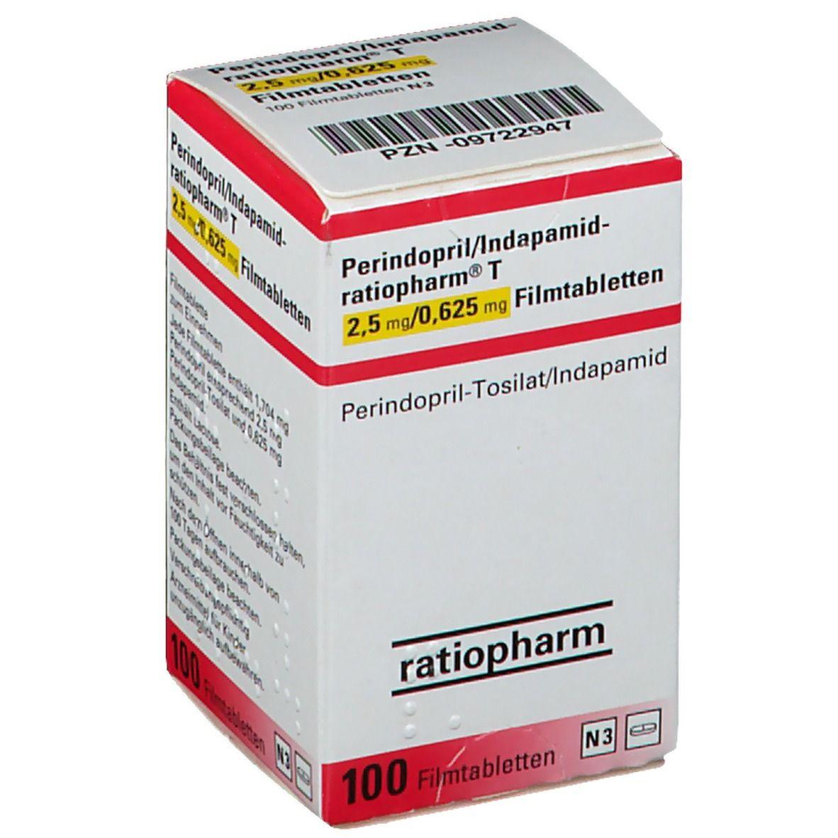 Perindopril/Indapamid ratiopharm® T 220,220 mg/20,6220220 mg 12020 St   shop ...