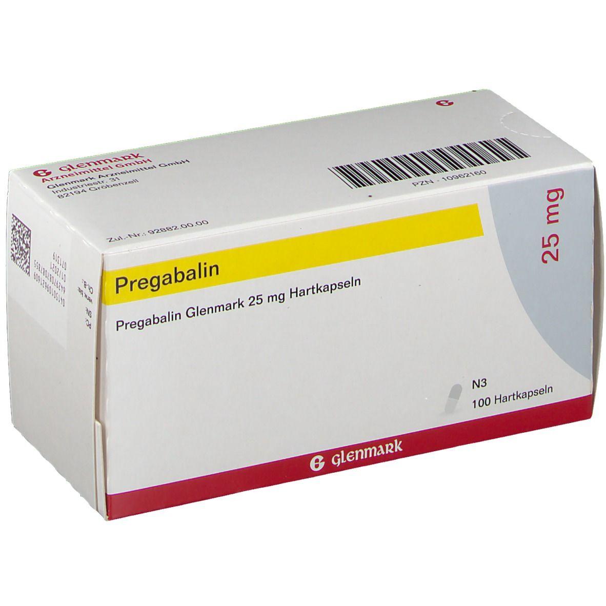 PREGABALIN Glenmark 25 mg Hartkapseln