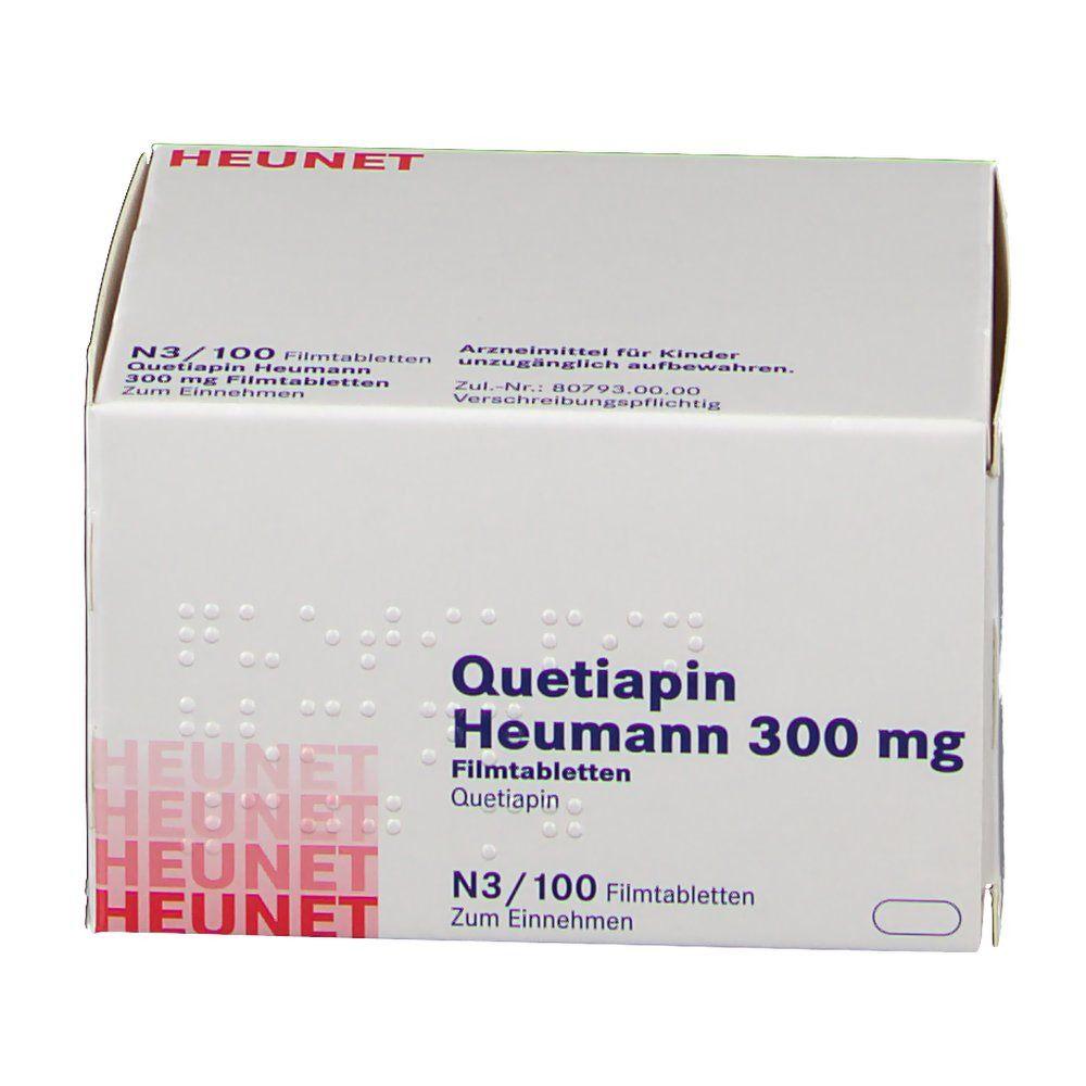QUETIAPIN Heumann 300 mg Filmtabletten Heunet