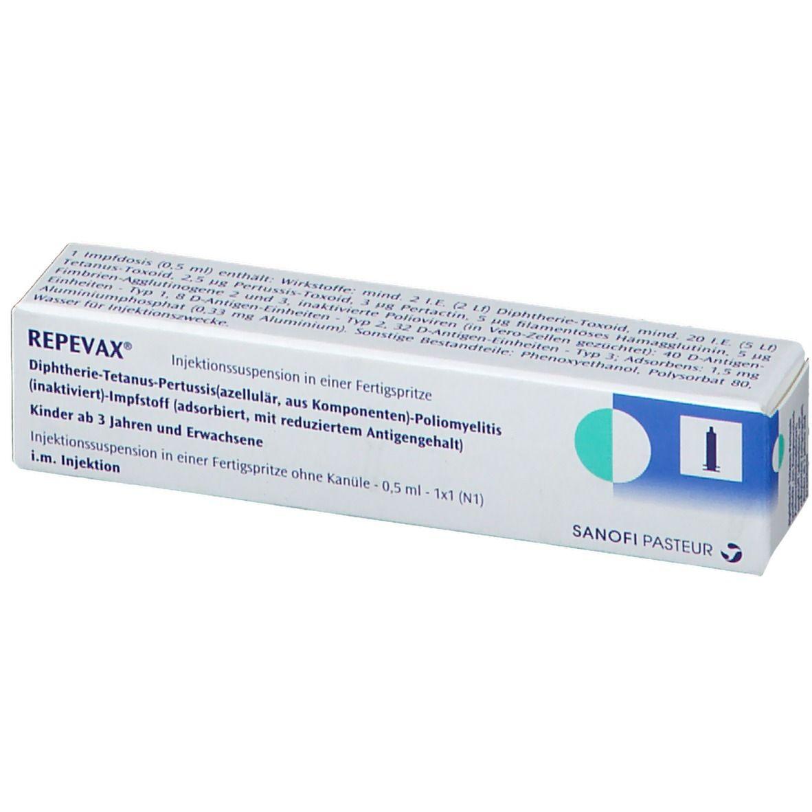 Repevax Injektionssuspension In Einer Fertigspritze 1 St Shop Apotheke Com