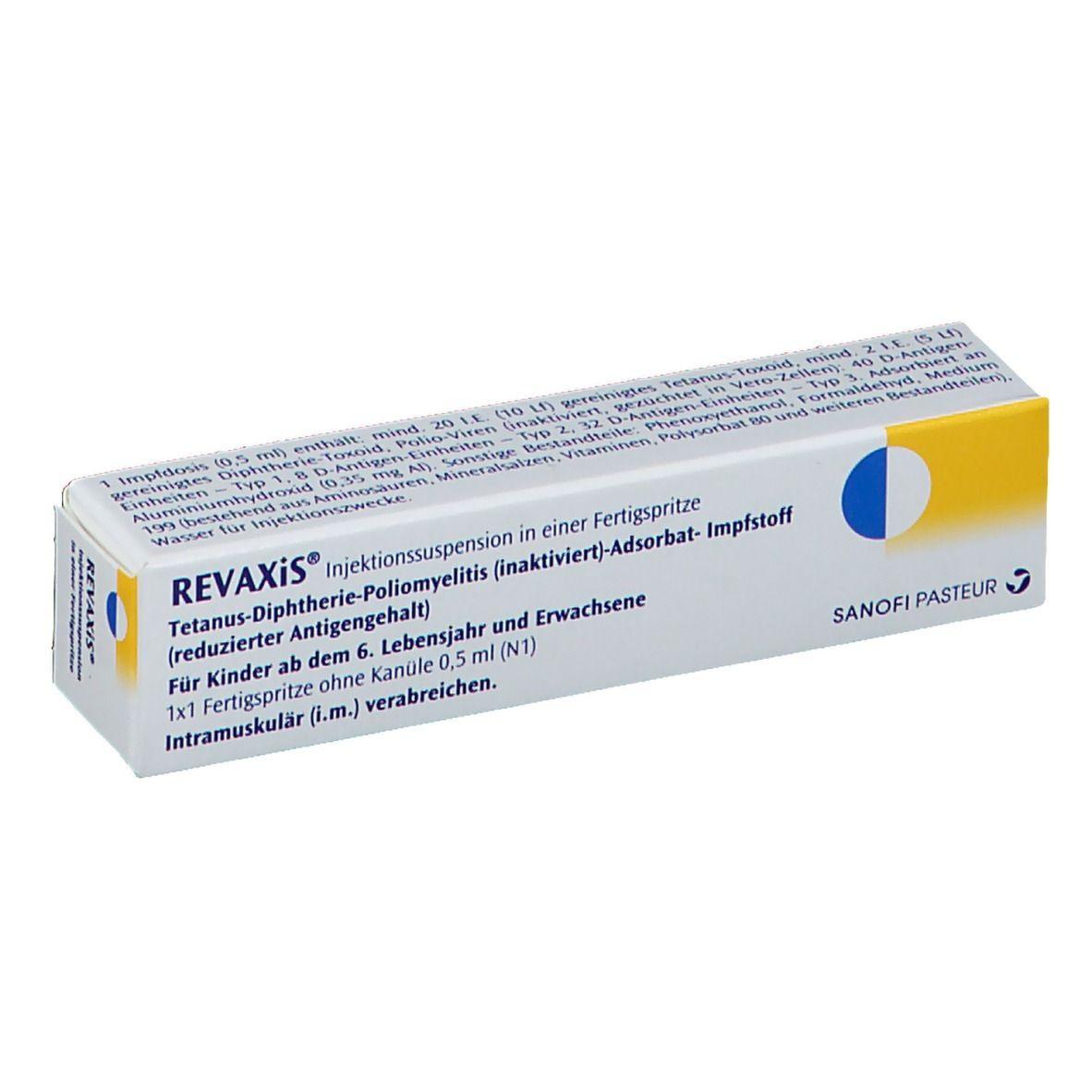 Revaxis Injektionssuspension In Einer Fertigspritze 1x1 St Shop Apotheke Com