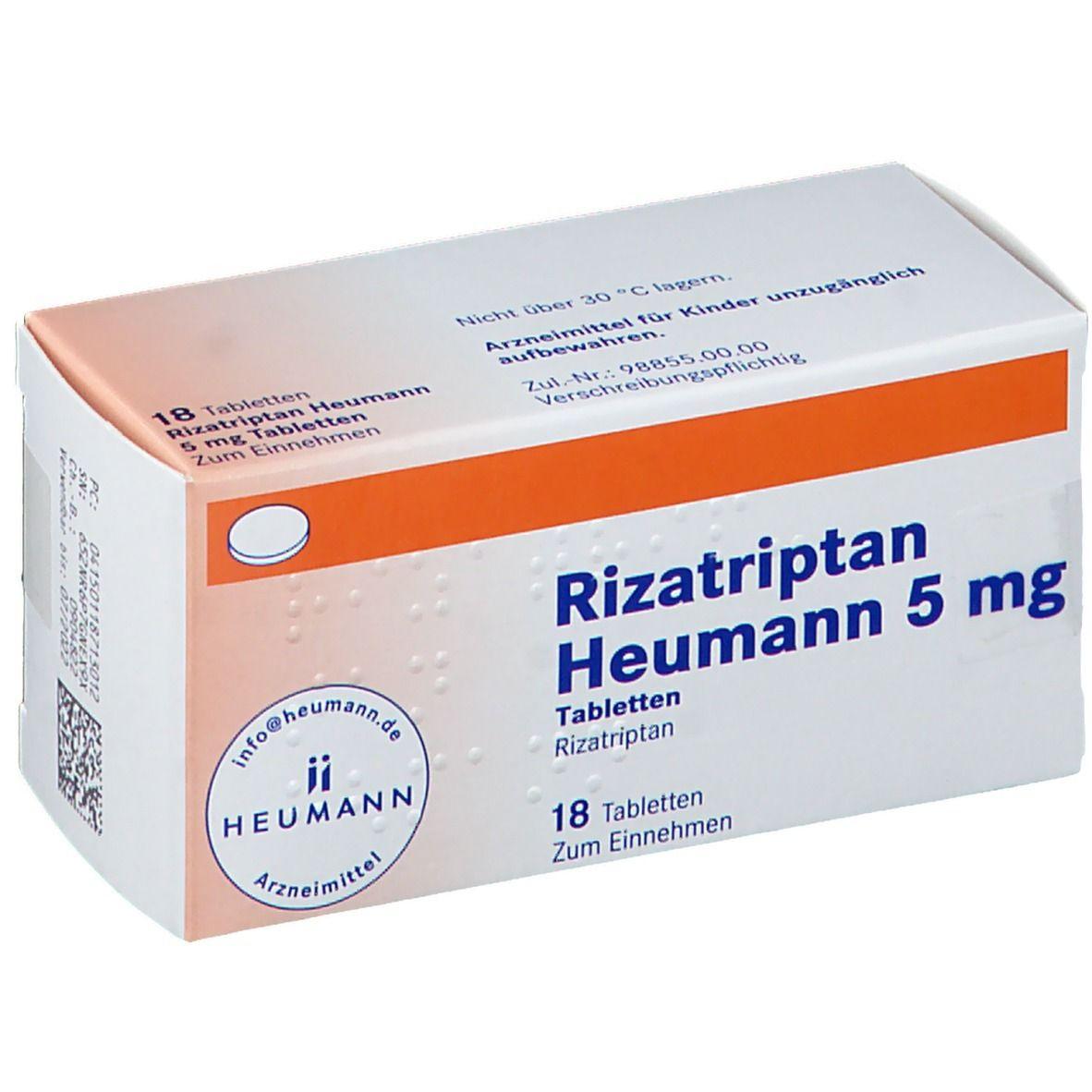 Rizatriptan Heumann 20 mg 20 St   shop apotheke.com