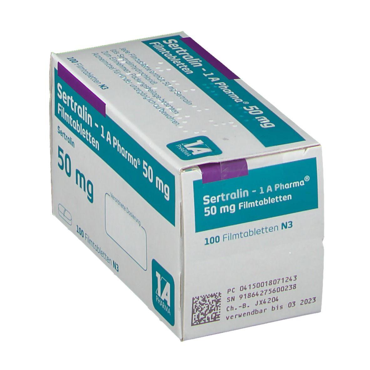 SERTRALIN 1A Pharma 50 mg