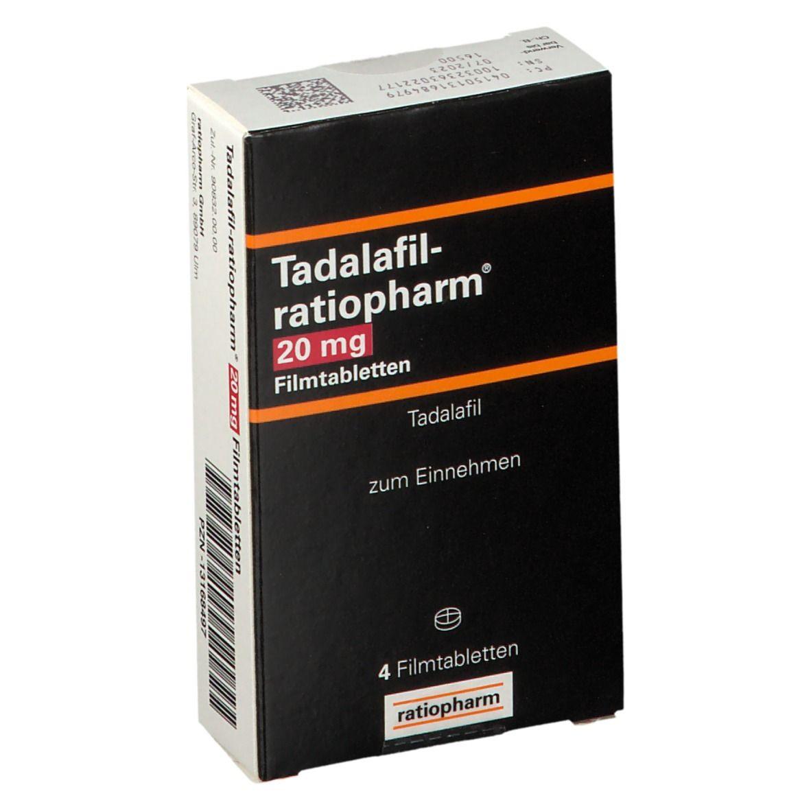 TADALAFIL-ratiopharm® 20 mg Filmtabletten