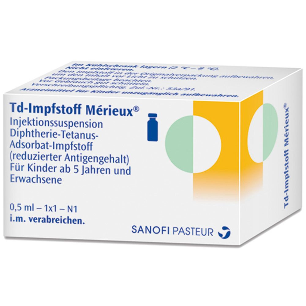 Td Impfstoff Merieux Injektionssuspension 1 St Shop Apotheke Com