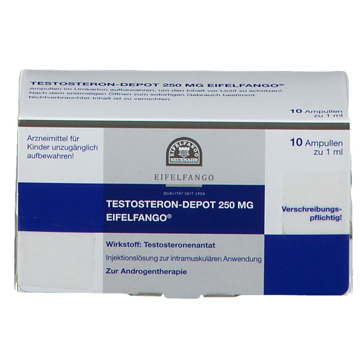 TESTOSTERON depot 250 mg Eifelfango Ampullen 10X1 ml